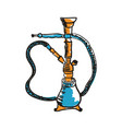 ancient hookah hand drawn icon vector image