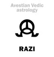 astrology astral planet razi vector image vector image
