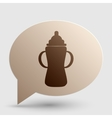 Baby bottle sign Brown gradient icon on bubble vector image vector image