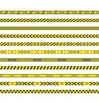 barricade construction tape vector image vector image