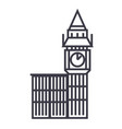 big ben london line icon sign vector image vector image