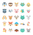 Birds and Animals Faces-2 vector image vector image