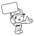 black and white soldier mascot is holding a vector image