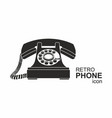 black vintage telephone isolated on white vector image vector image