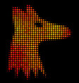 bright dotted fox head icon vector image