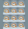 business infographics percent icon vector image vector image