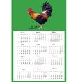 Calendar Hand Drawn cock bird vector image vector image
