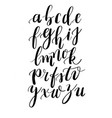 calligraphy hand-written fonts handwritten brush vector image vector image