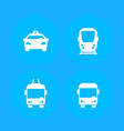 city transport public transportation icons vector image