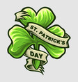 clover leaf logo st patricks day party vector image