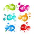 Colorful Sale Blots Icons Set