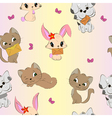 Cute animals seamless pattern vector image