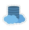 data center cloud information digital vector image vector image