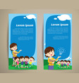 education teacher children banner vector image vector image