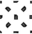 file zip pattern seamless black vector image vector image