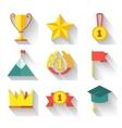 Flat design of set award success and vector image
