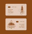 forest pine tree business card badge vector image