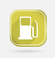 gas station Color square icon vector image