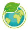 go green world planet vector image vector image