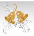 Golden bells vector image vector image