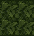 green tropical leaves seamless graphic design vector image
