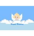 greeting card with the angel vector image vector image