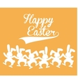 Happy easter cute card vector image
