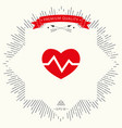 heart medical icon vector image