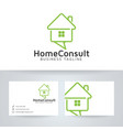 home consulting logo design vector image vector image