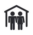 home couple icon vector image