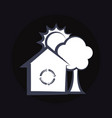 house with recycle symbol vector image vector image