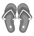 independence day slippers icon monochrome vector image vector image