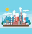industrial factory power plant vector image vector image