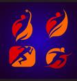 logo successful person vector image