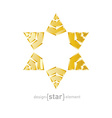 luxury golden star with on white background vector image vector image