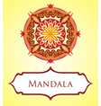 Mandala card vector image
