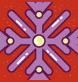 merry christmas celebration snowflakes decoration vector image