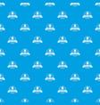 nut emblem pattern seamless blue vector image vector image