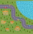 plan of village vector image