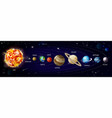 planets solar system orbiting around sun vector image