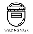 plastic welding mask icon outline style vector image