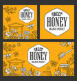 posters honey on craft texture paper vintage vector image vector image