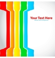 Rainbow lines vector image vector image