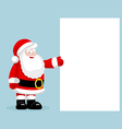 Santa Claus presenting empty blank vector image vector image