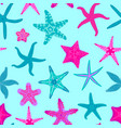 sea stars seamless pattern marine and nautical vector image vector image