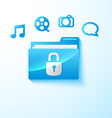 secure multimedia folder vector image vector image