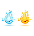 set fire icons vector image
