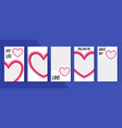 set of abstract heart backgrounds material vector image vector image