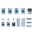 Set of large household appliances vector image