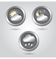 Set of stylish weather icon buttons for web vector image